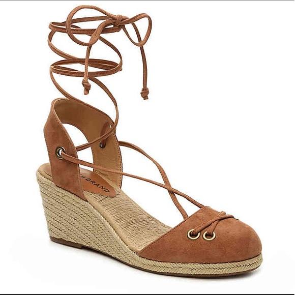 35c85c6e0fbf3 NWT Lucky Brand Keller Colorado Tan Wedge Sandals
